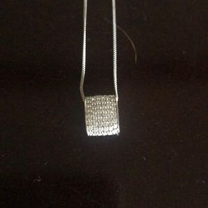 Jewelry - Sterling silver, crystal necklace